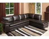 Abbyson Tivoli Premium Italian Leather Sectional Sofa AB-55CI-N680-BRN