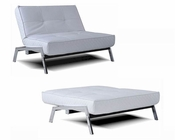 Abbyson Venice Convertible Euro Chair Lounger AB-55MS-S61SIN-P172-WHT