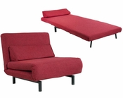 Abbyson Verona Fabric Convertible Chair / Bed AB-55MS-S20-MS75-RED