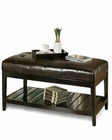 Abbyson Winslow Tufted Leather Coffee Table Ottoman AB-55HS-OT-036-BRN