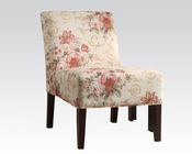 Accent Chair in Floral Fabric by Acme Furniture AC59305