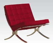 Accent Chair in Red by Acme Furniture AC96377