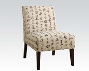 Acme Accent Chair w/ Japanese Hieroglyph AC59071