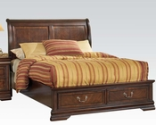 Acme Bed w/ Storage in Brown Cherry Hennessy AC19450BED