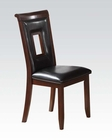 Acme Black/ Cherry Side Chair Oswell AC71603 (Set of 2)