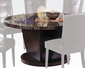 Acme Black Marble Top Dining Table Danville AC07003