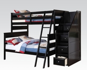 Acme Black Twin/ Full Bunkbed AC37365