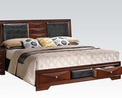 Acme Contemporary Bed w/ Storage Windsor AC21910BED