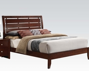 Acme Contemporary Brown Cherry Bed Ilana AC20400BED