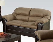 Acme Contemporary Loveseat Connell Saddle AC15141