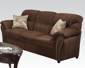 Acme Dark Brown Sofa w/ 2 Pillows Patricia AC50130