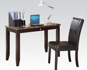 Acme Desk w/ Chair in Espresso AC92048