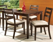 Acme Dining Set in Dark Oak Finish Tacoma AC00867SET