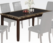 Acme Dining Table w/ Glass Rolle AC71065