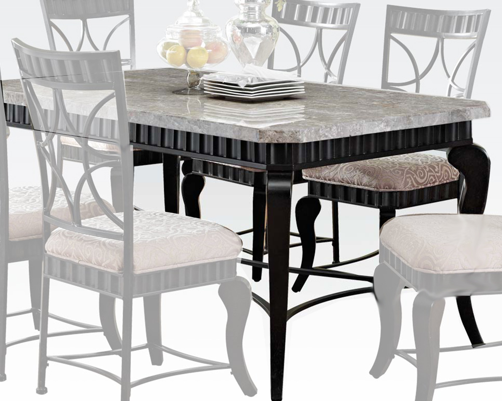 Acme Dining Table w White Marble Top Lorencia AC70294 : acme dining table w white marble top lorencia ac70294 5 from www.homefurnituremart.com size 1000 x 800 jpeg 249kB