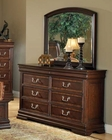 Acme Dresser w/ Mirror in Brown Cherry Hennessy AC19455DM
