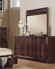 Acme Dresser w/ Mirror in Walnut Travell AC20525DM