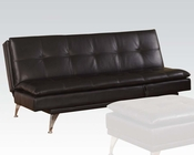 Acme Furniture Adjustable Sofa in Black by Acme Furniture AC57080