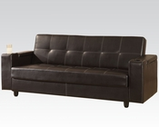 Acme Furniture Adjustable Sofa in Brown by Acme Furniture AC57089