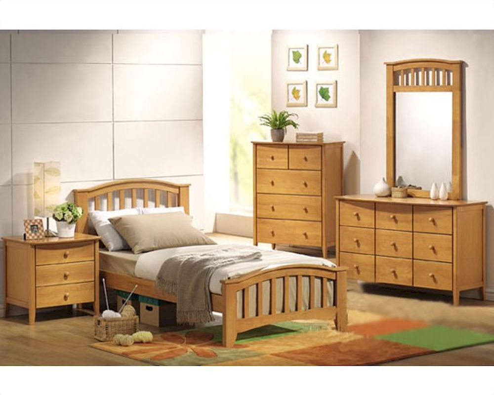 acme furniture bedroom set in maple ac08940tset