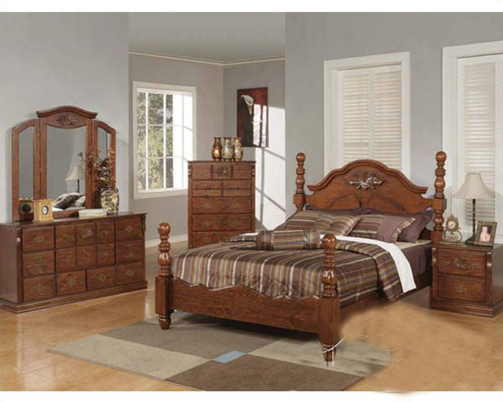 acme furniture bedroom set in walnut finish ac01720aset