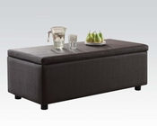 Acme Furniture Brown Ottoman w/ Storage Barlow AC51437