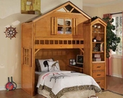 Acme Furniture Bunk Bed with Book Shelf Cabinet Montana AC10160-3