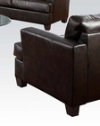 Acme Furniture Chair in Brown Bonded Leather Platinum AC15072B