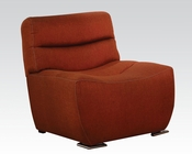 Acme Furniture Chair in Orange Linen Kainda AC51712