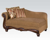 Acme Furniture Chaise in Brown Floral Olysseus Fabric AC50312