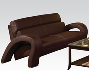 Acme Furniture Chocolate Finish Sofa Irisa by Acme AC51735