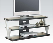 Acme Furniture Clear Tempered Glass TV Stand AC91034
