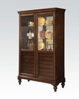 Acme Furniture Curio Cabinet w/ 6 Drawers AC90105