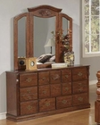Acme Furniture Dresser and Mirror in Walnut Finish AC0172425A