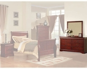 Acme Furniture Dresser with Mirror Louis Philippe in Cherry AC19524-5