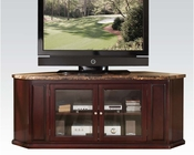 Acme Furniture Espresso TV Console w/ Faux Marble Top AC91055
