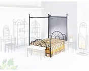 Acme Furniture Full Canopy Bed in Black AC02084BED