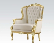 Acme Furniture Gold Frame Accent Chair AC59144