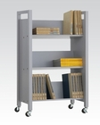 Acme Furniture Gray Bookshelf Cart AC92138