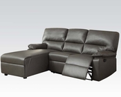 Acme Furniture Gray Sectional w/ Reclining Chair Artha AC51560
