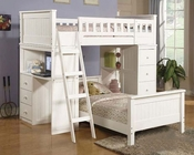 Acme Furniture Loft and Twin Bed Set in White Willoughby AC10970-8