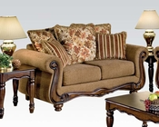 Acme Furniture Loveseat in Brown Floral Olysseus Fabric AC50311