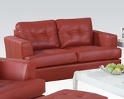Acme Furniture Loveseat Platinum Red AC15101B