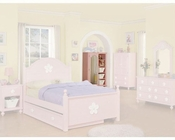 Acme Furniture Mirror Door Chest in Pink AC00742