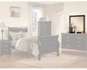 Acme Furniture Mirror Louis Philippe in Black AC19504