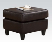 Acme Furniture Ottoman w/ 2 Pillows Vogue Chocolate AC05909
