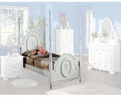 Acme Furniture Post Bed in White AC01660TBED