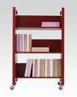 Acme Furniture Red Bookshelf Cart AC92137