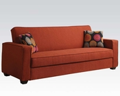 Acme Furniture Red Linen Adjustable Sofa AC57072