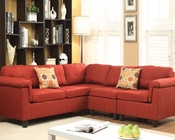 Acme Furniture Red Sectional Sofa Cleavon AC51545